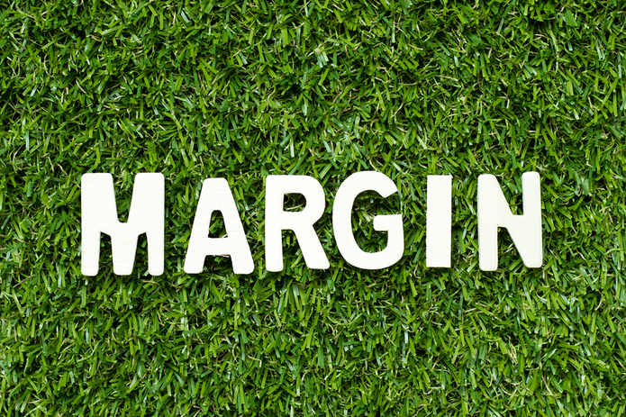 Margin Lettering on Grass