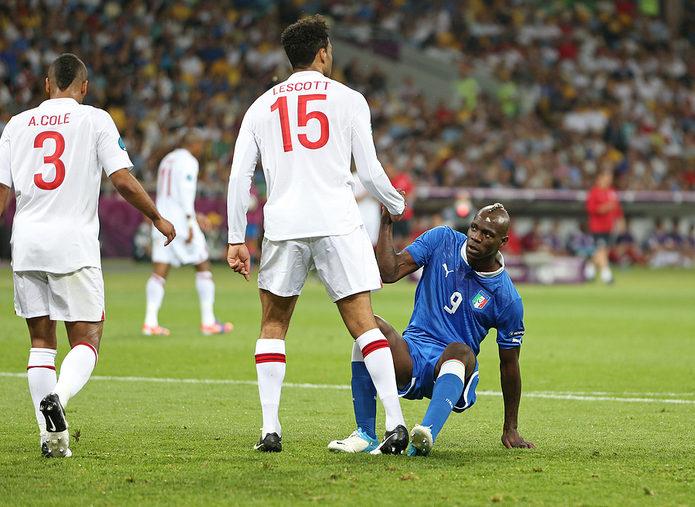 Mario Balotelli Playing Against England