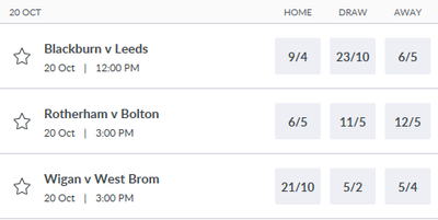 Football Match Betting Odds