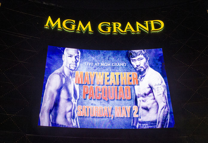 Mayweather v Pacquiao MGM Grand Sign