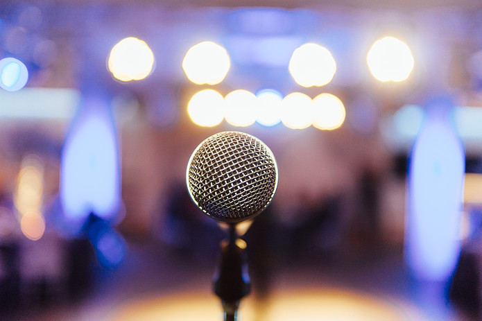 Microphone and Conference Hall