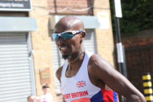 Mo Farah Running Street Race