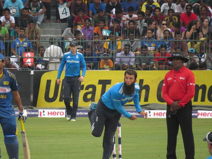 Moeen Ali Bowling Against Sri Lanka
