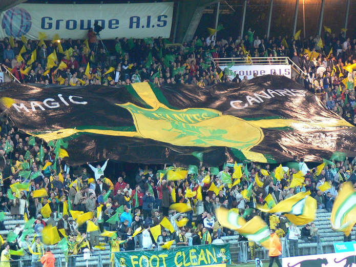 Nantes Fans with Flags