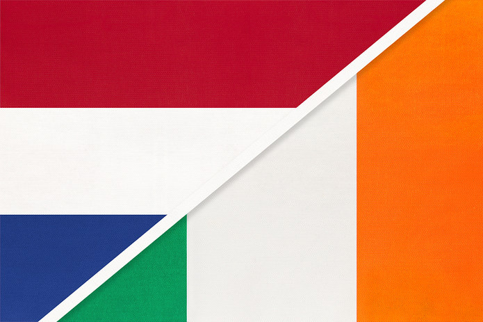 Netherlands and Ireland Combined Flag