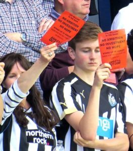 Unhappy Newcastle Fans