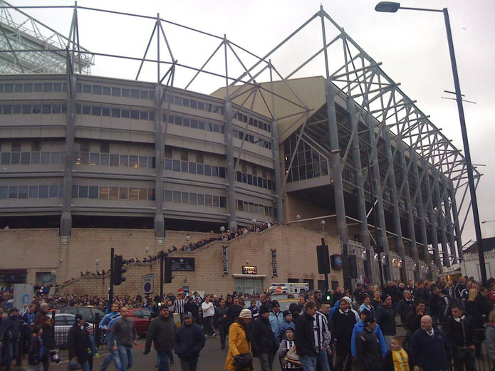 Newcastle United Fans Outside St James's Park