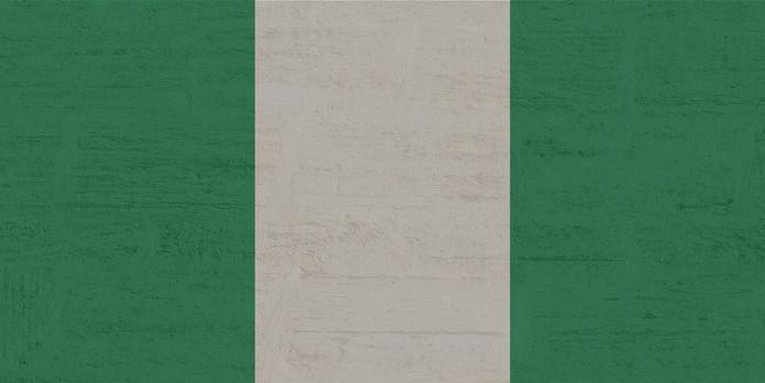 Nigeria Flag on Wall