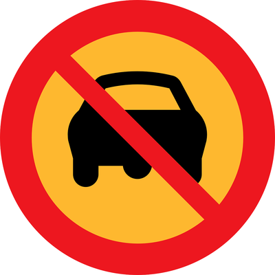 No Driving Sign