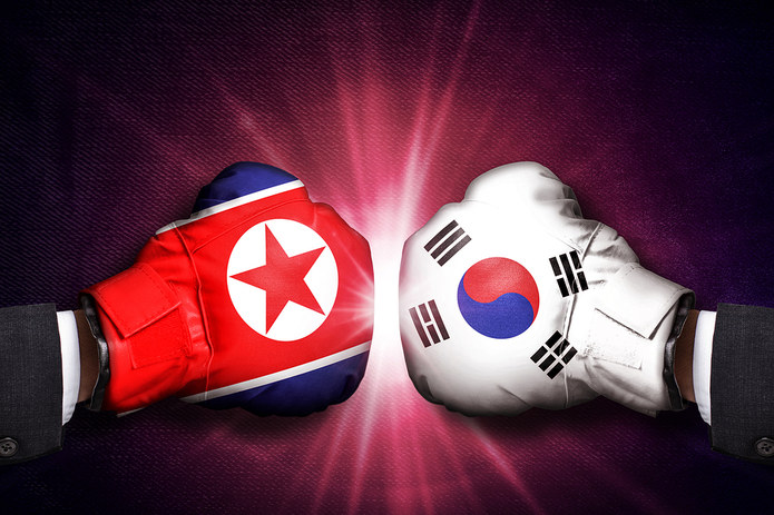 North and South Korea Boxing Gloves
