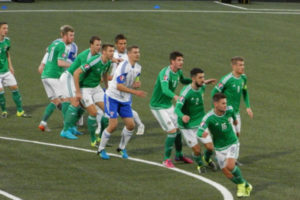 Northern Ireland Football Team During Match