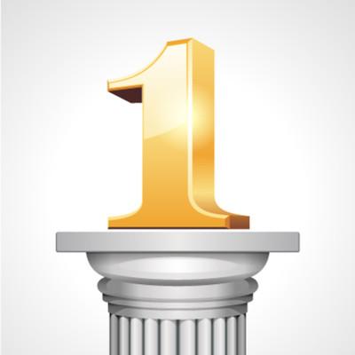 Number 1 on Pedestal