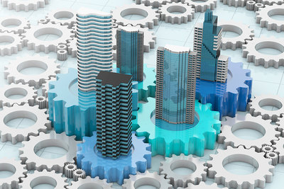 Office Blocks as Cogwheels