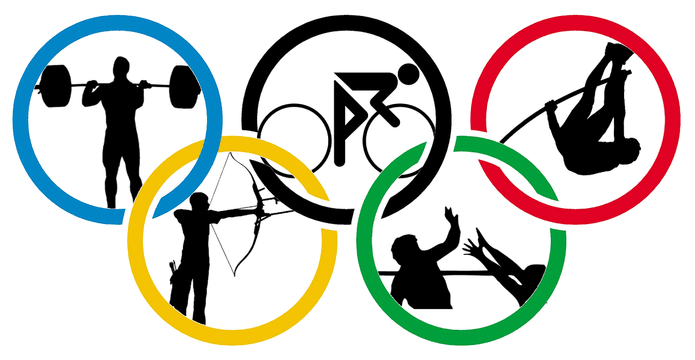 Olympic Rings Sports Silouhette
