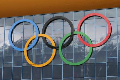 Olympic Rings on Stadium