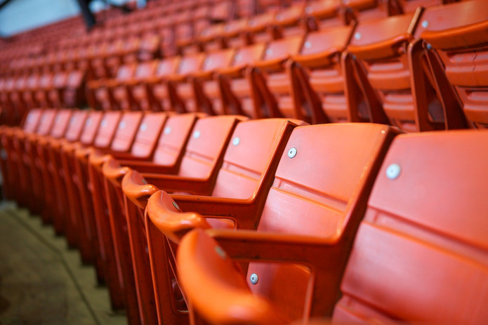 Orange Stadium Seats