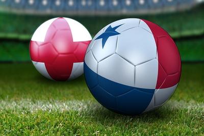 Panama and England Football Flags