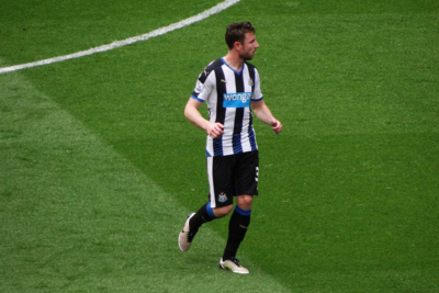 Newcastle United Player Paul Dummett During a Match