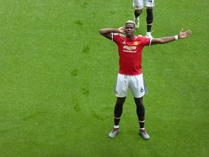 Paul Pogba Celebrating Playing for Manchester United