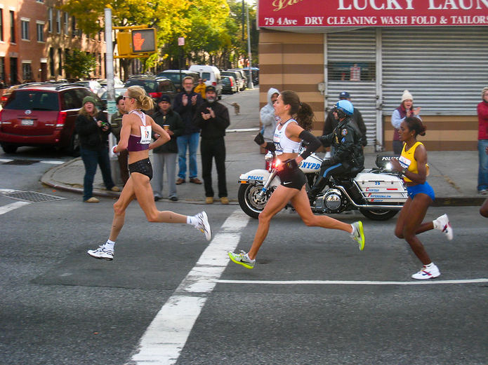 Paula Radcliffe in the 2008 New York Marathon
