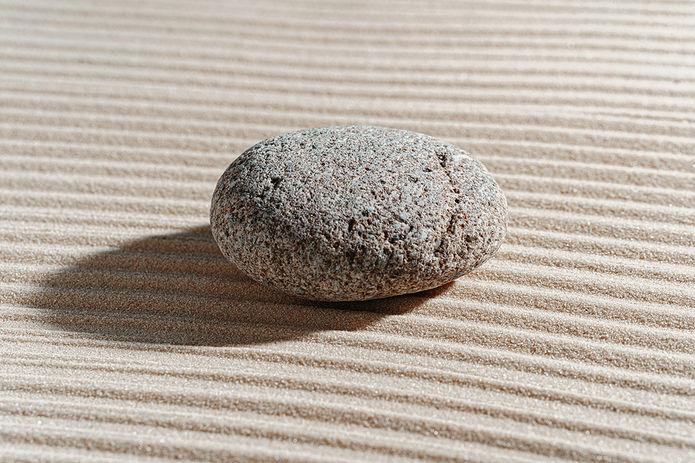 Pebble on Raked Sand