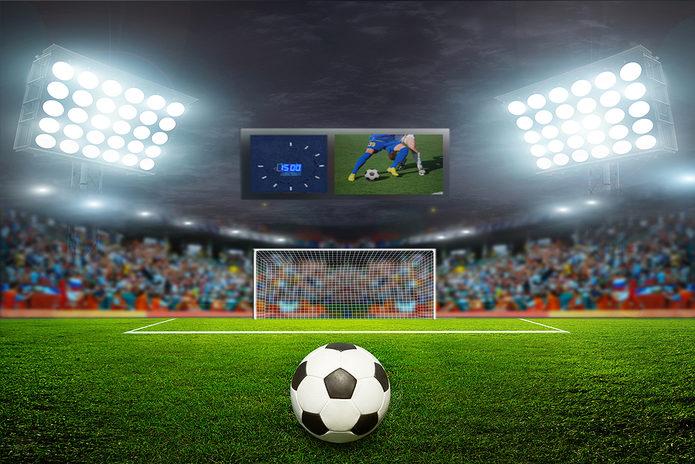 Penalty Kick Under Floodlights