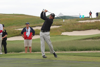 Phil Mickelson Playing Shot