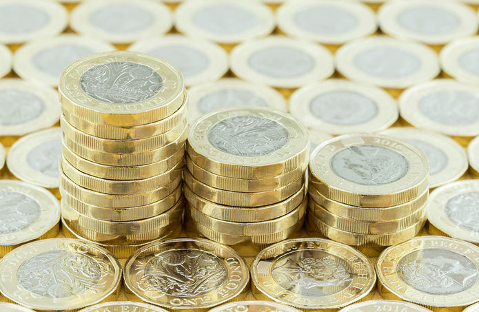 Pound Coin Stacks