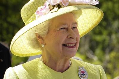 Queen Elizabeth II Wearing Yellow