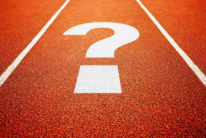 Question Mark on Running Track