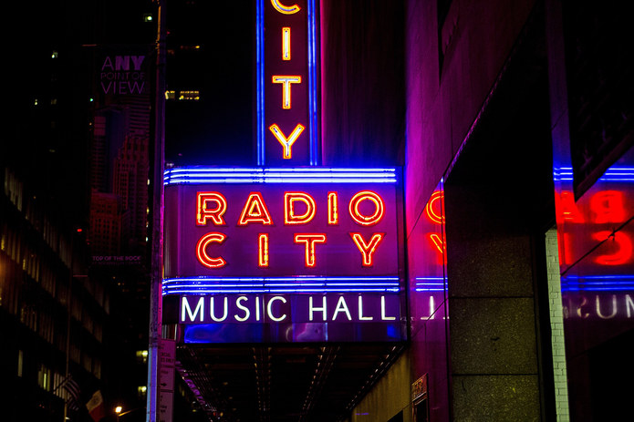 Neon Sign at Radio City in New York
