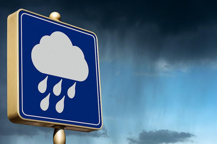 Rain Warning Sign