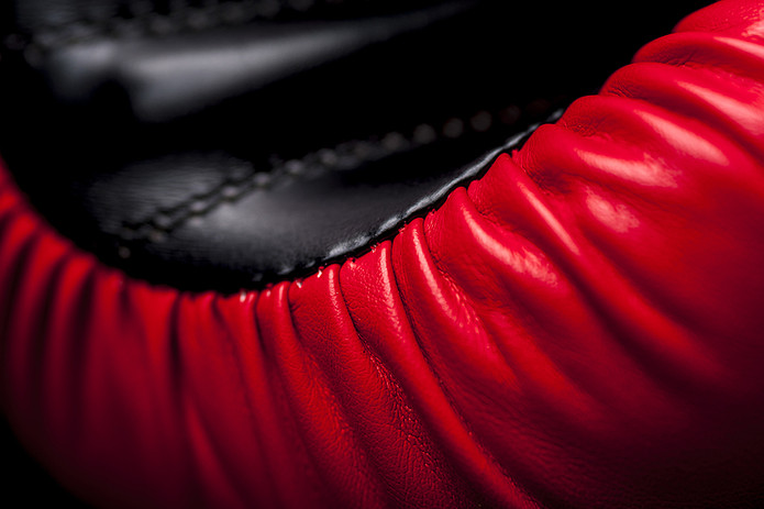 Red Boxing Glove Close Up