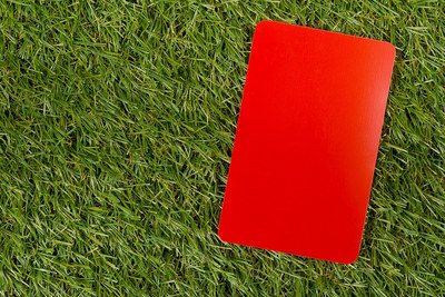 Red Card on Grass