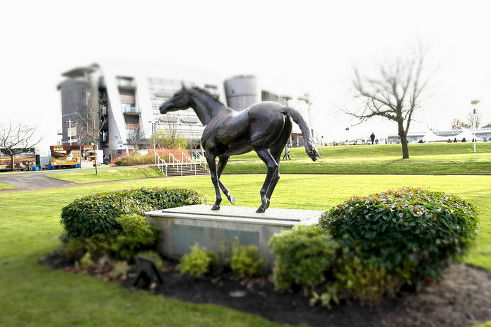 Red Rum Statue at Aintree Racecourse