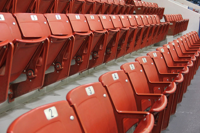 Red Sports Stadium Seats