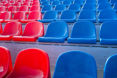 Red and Blue Stadium Seating