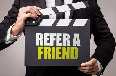 Refer A Friend Movie Cut Sign