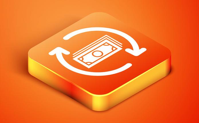 Refund Money Button in Orange