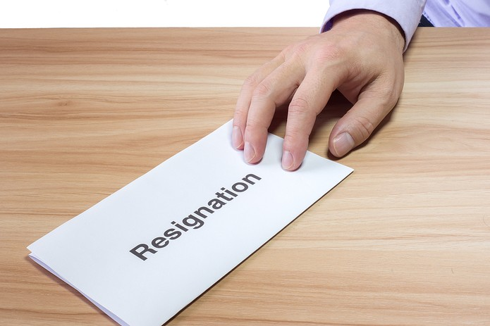Resignation Letter on Desk