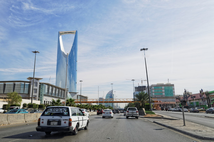 Road in Riyadh, Saudi Arabia