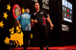 Darts Player Rob Cross During Match