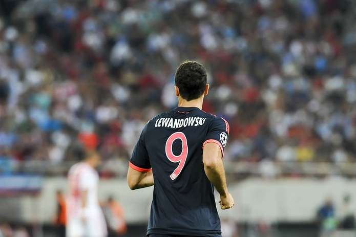 Robert Lewandowski Playing for Bayern Munich