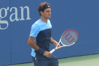 Roger Federer Playing Tennis