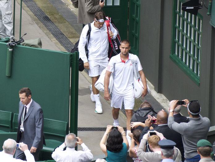 Roger Federer Entering Wimbledon Court