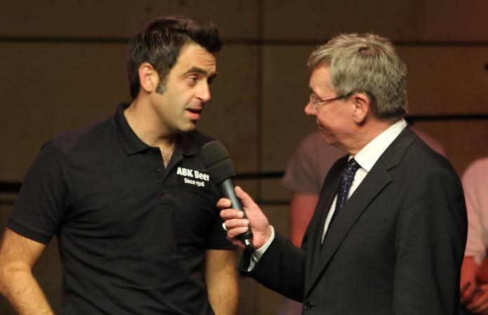 Ronnie O'Sullivan Being Interviewed