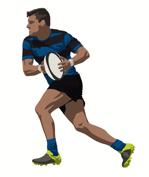 Rugby Player Graphic