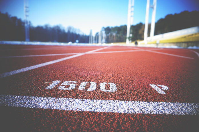 Running Track with 1500 Marker