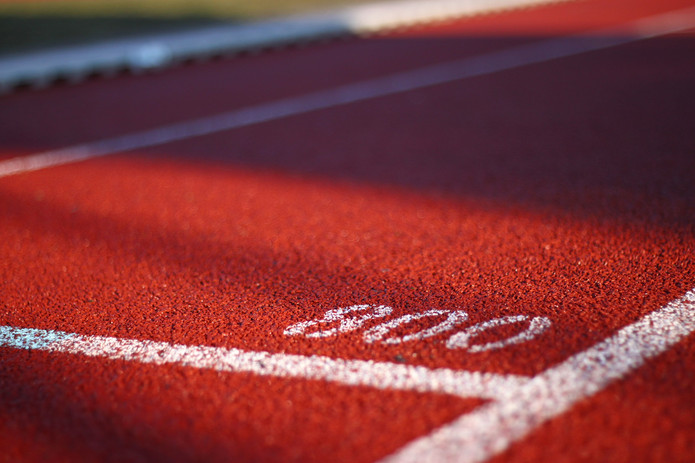 Running Track with 800 Marker