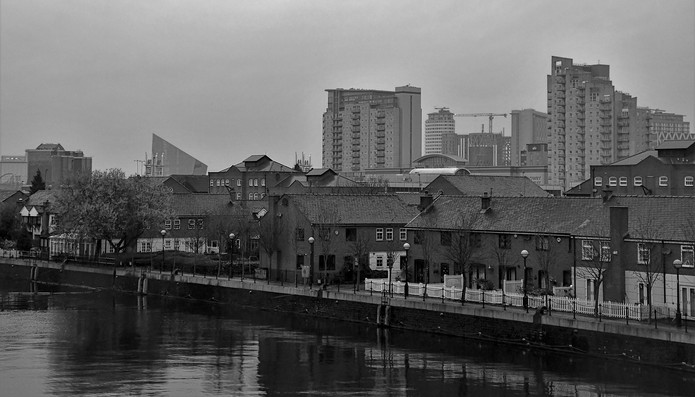 Salford Quays Black and White